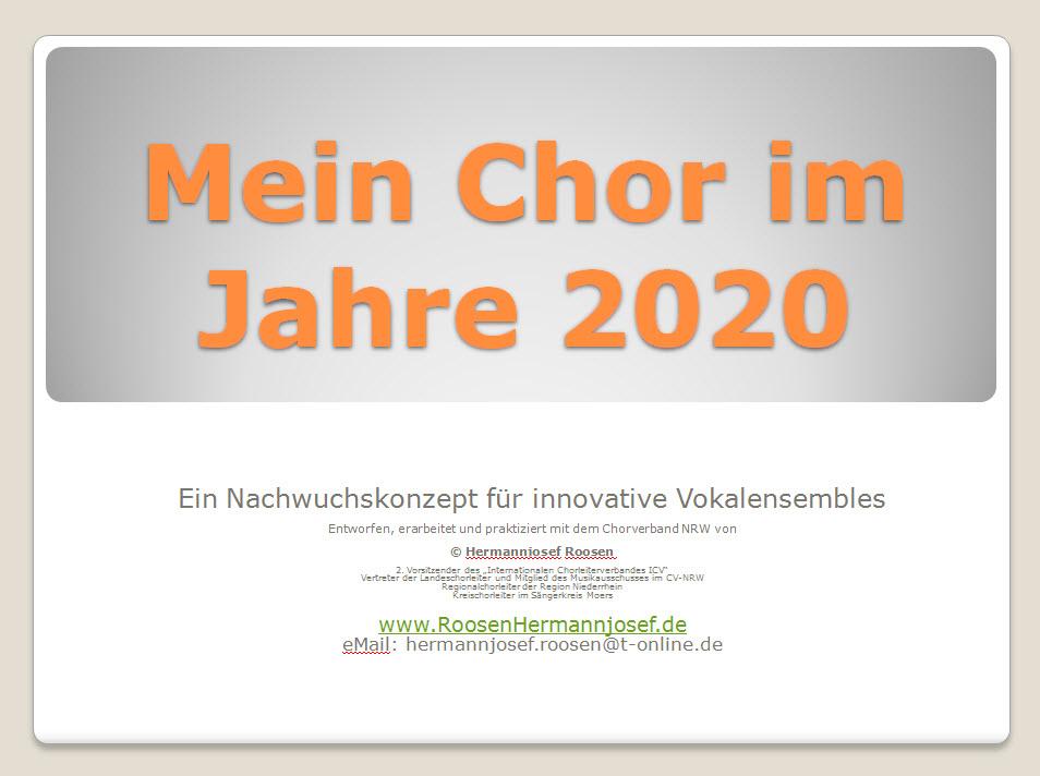 Mein Chor im Jahre 2020