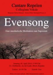 Plakat zum Choral Evensong 2014
