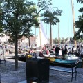 Einfall der Plattboote im Hafen von Bolkzijl